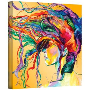 ArtWall Lynn-001-14×14-w Linzi Lynn 'Windswept' Gallery-Wrapped Canvas Artwork